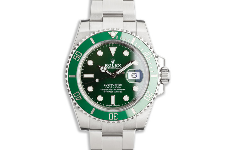 "2020 Rolex Green Submariner 116610LV ""Hulk"" with Box, Card & Full Stickers photo"