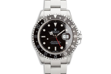 2000 Rolex GMT-Master II 16710 Black Bezel Box and Papers photo