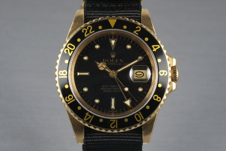 1981 Rolex 18K GMT 16758 photo