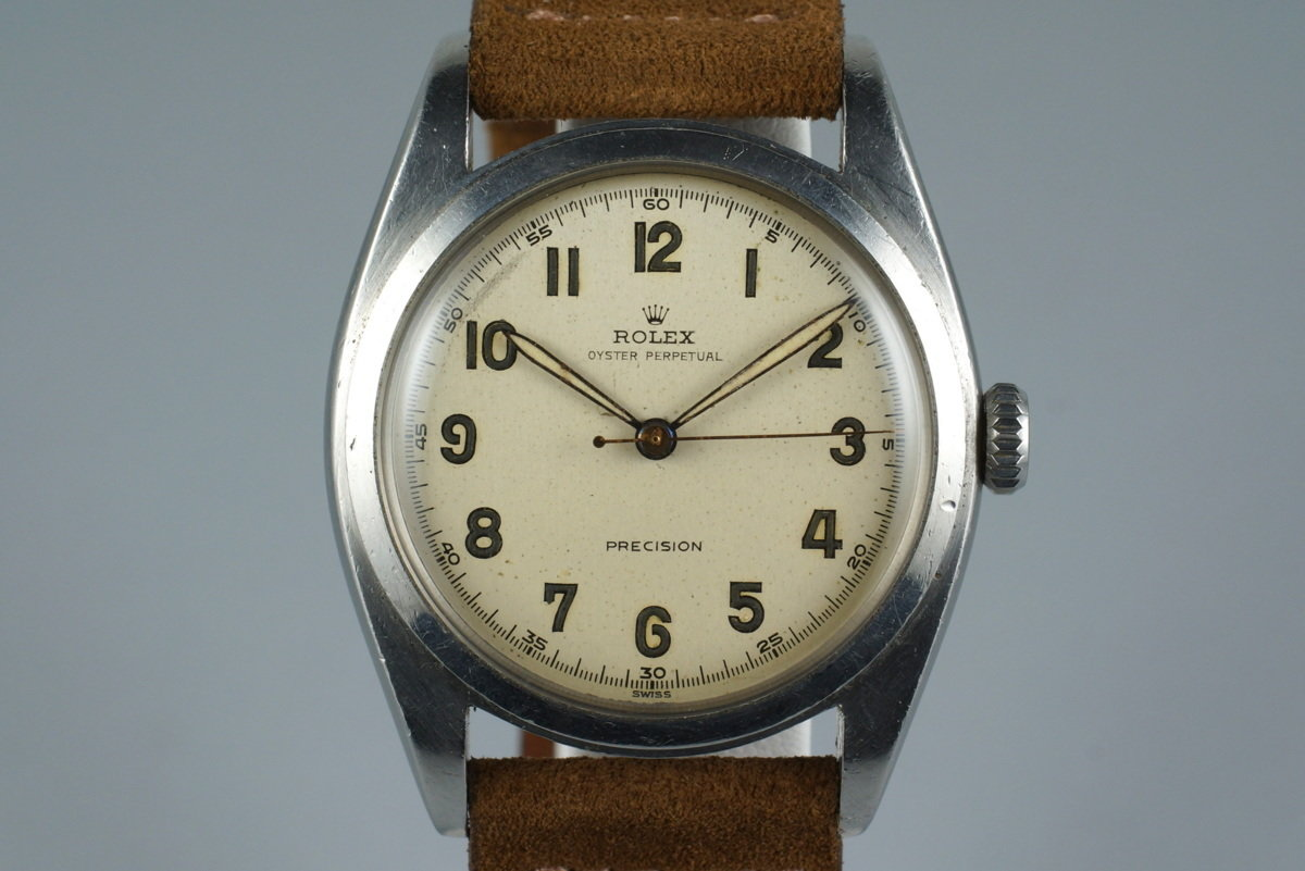 1952 Rolex Oyster Precision 6098 White Arabic Dial photo, #0