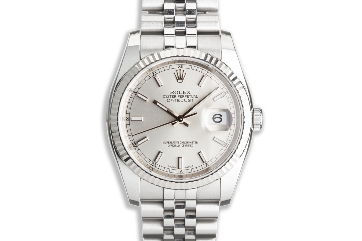 2017 Rolex Datejust 116234 Silver Dial with Box & Card photo, #0