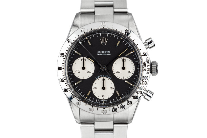 """1970 Rolex """"Blue"""" Daytona 6262 with Service Papers photo"""