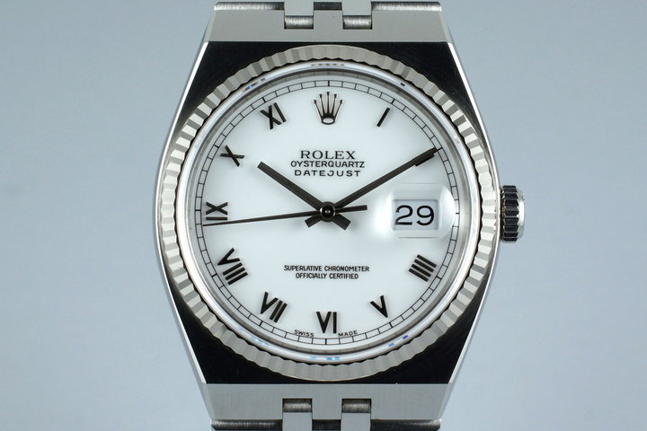 1995 Rolex OysterQuartz DateJust 17014A with Box and Papers photo