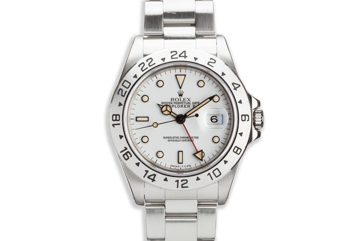 """1991 Rolex Explorer II 16570 White """"Polar"""" Dial photo, #0"""