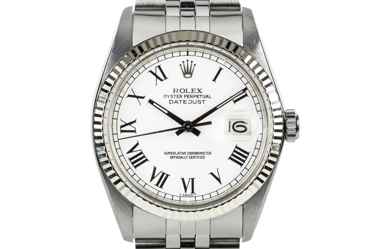 1979 Rolex DateJust 16014 White Roman Numeral Dial photo, #0