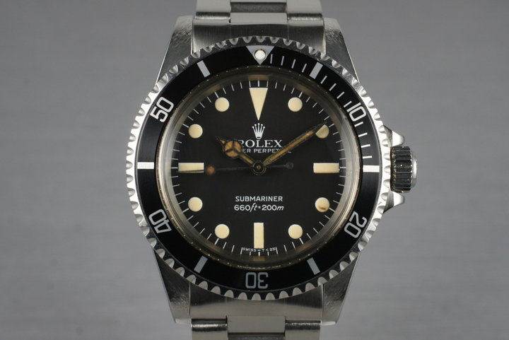 1982 Rolex Submariner 5513 Mark IV with Box and Papers photo