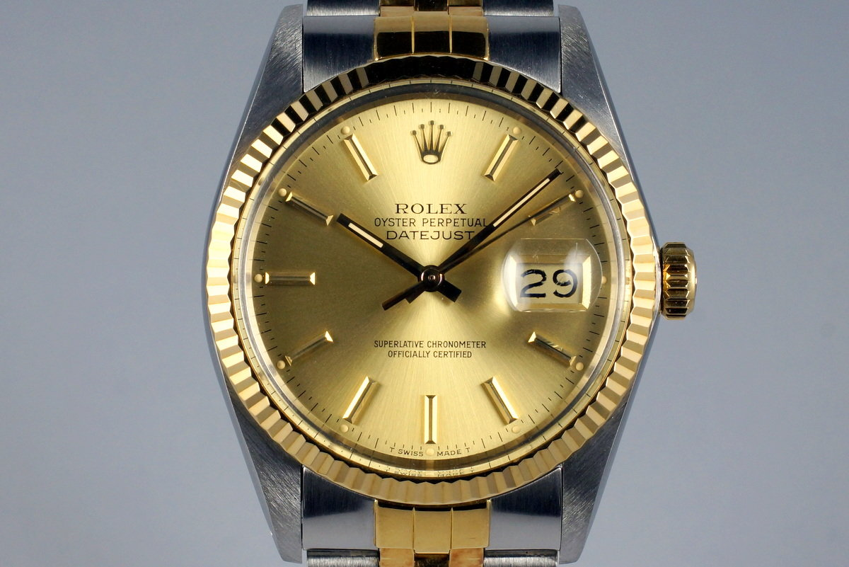 1987 Rolex Two Tone DateJust 16013 photo, #0