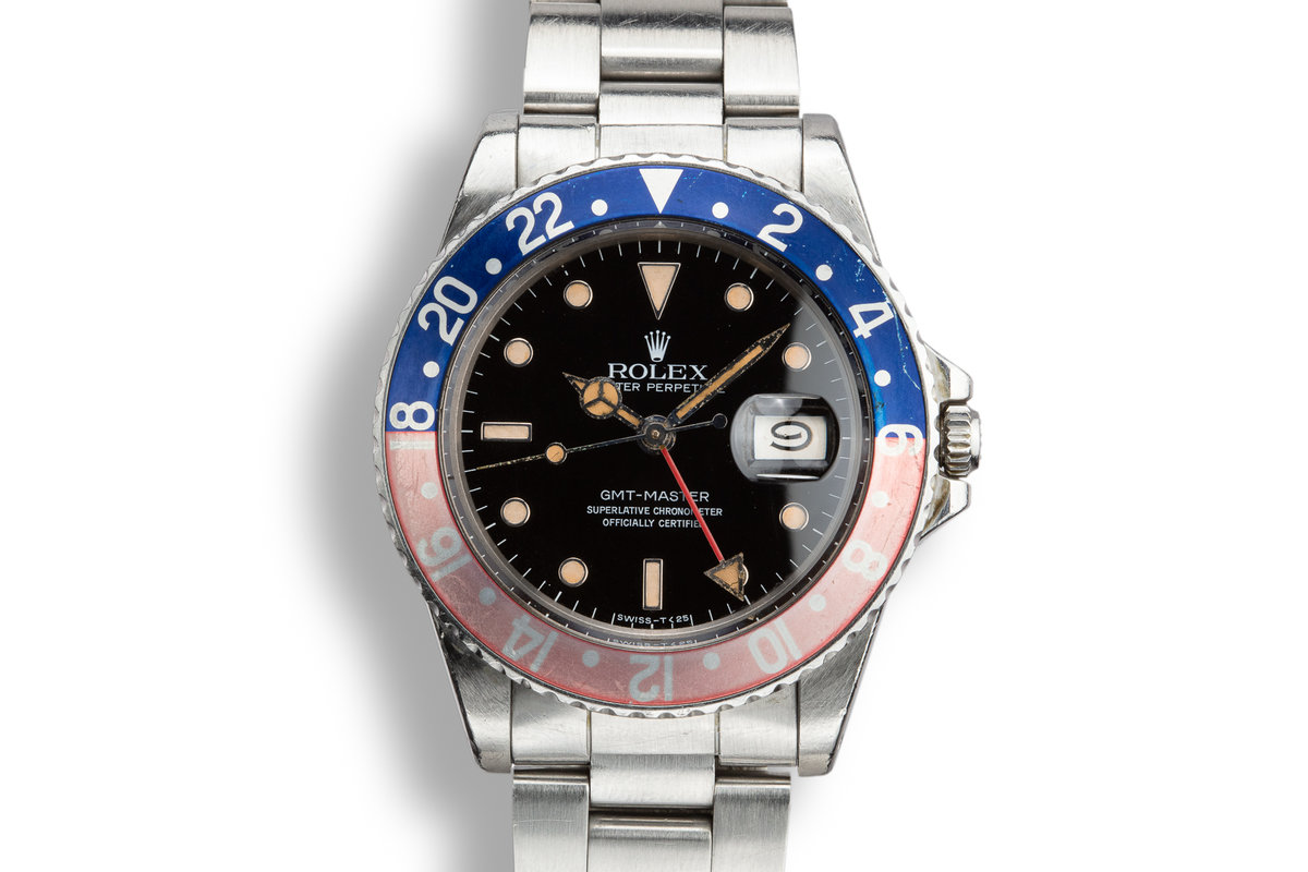 """1982 Rolex GMT-Master 16750 """"Pepsi"""" photo, #0"""