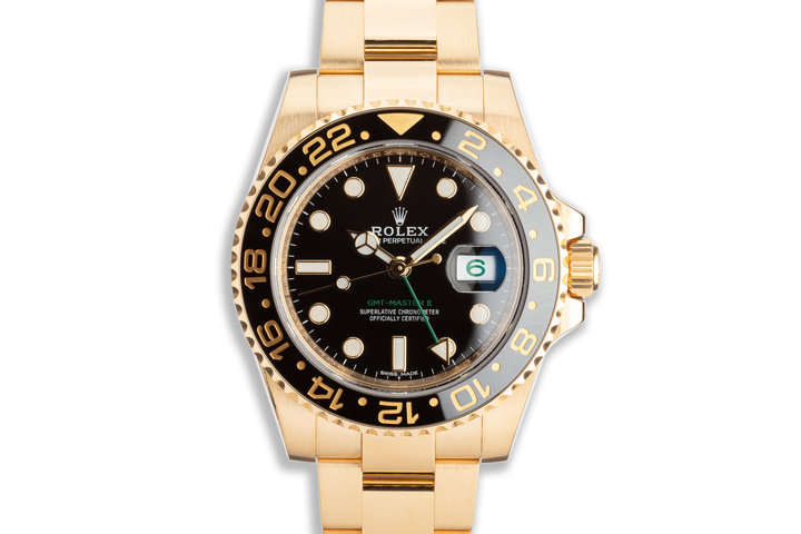 2018 Rolex 18K YG GMT-Master II 116718LN Black Bezel with Box & Card photo