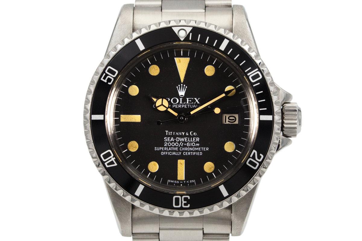 1981 Rolex Sea Dweller 1665 Mark IV Tiffany & Co. Dial photo, #0