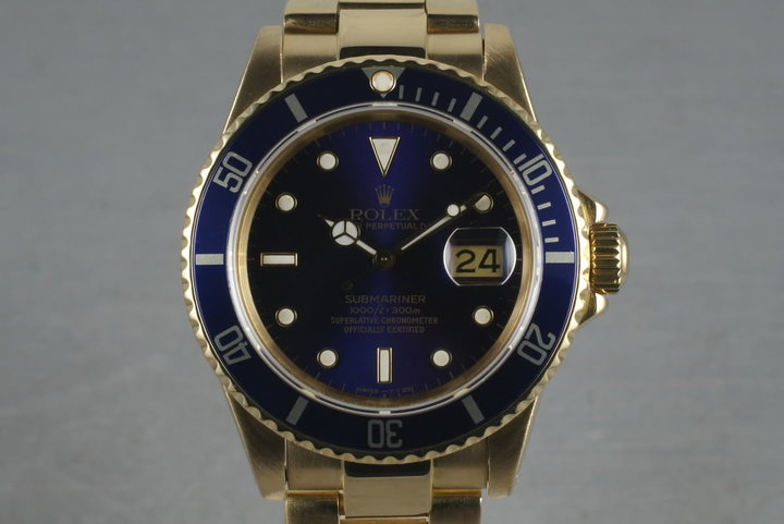 1981 Submariner 18K 16808 Blue Dial photo