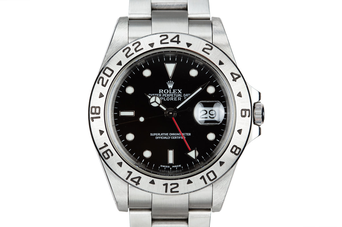 2000 Rolex Explorer II 16570 Black Dial photo, #0