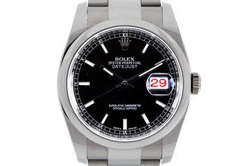 2016 Rolex Datejust 116200 Black Dial photo