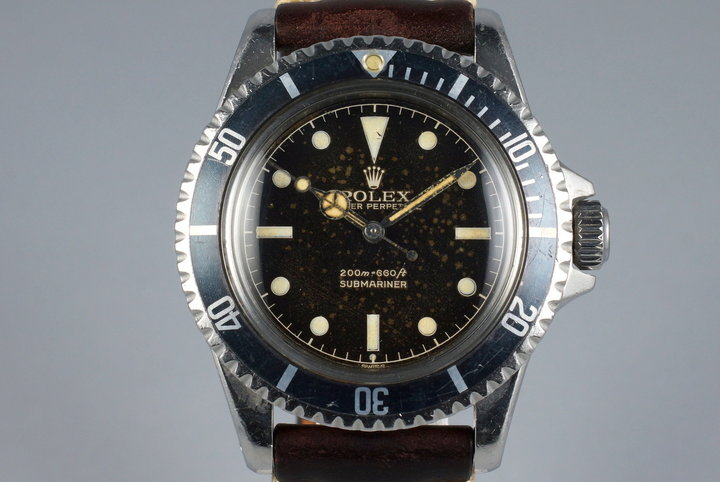 1961 Rolex Submariner 5512 PCG Gilt Chapter Ring Dial photo