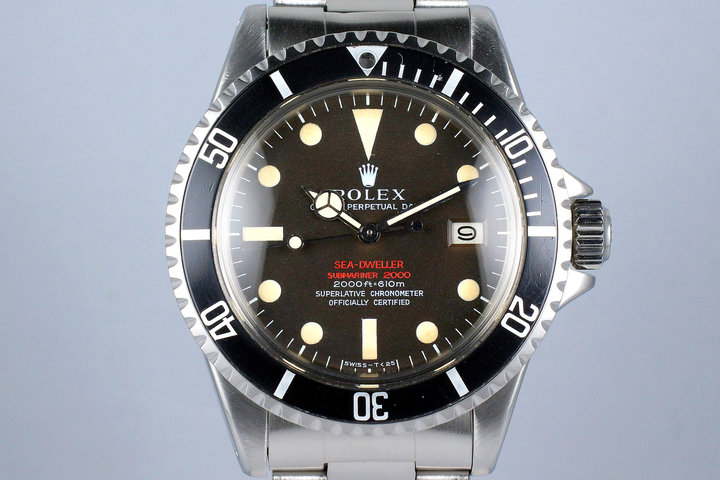 1967 Rolex Double Red Sea Dweller 1665 Thin Case with Mark II BROWN Dial photo