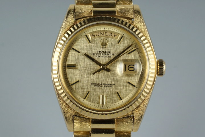 1972 Rolex YG Day-Date 1803 Linen Sigma Dial photo