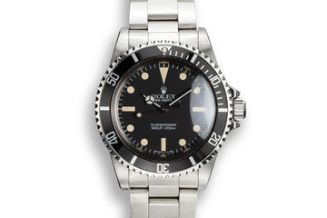 1984 Rolex Submariner 5513 MK V Maxi Dial photo