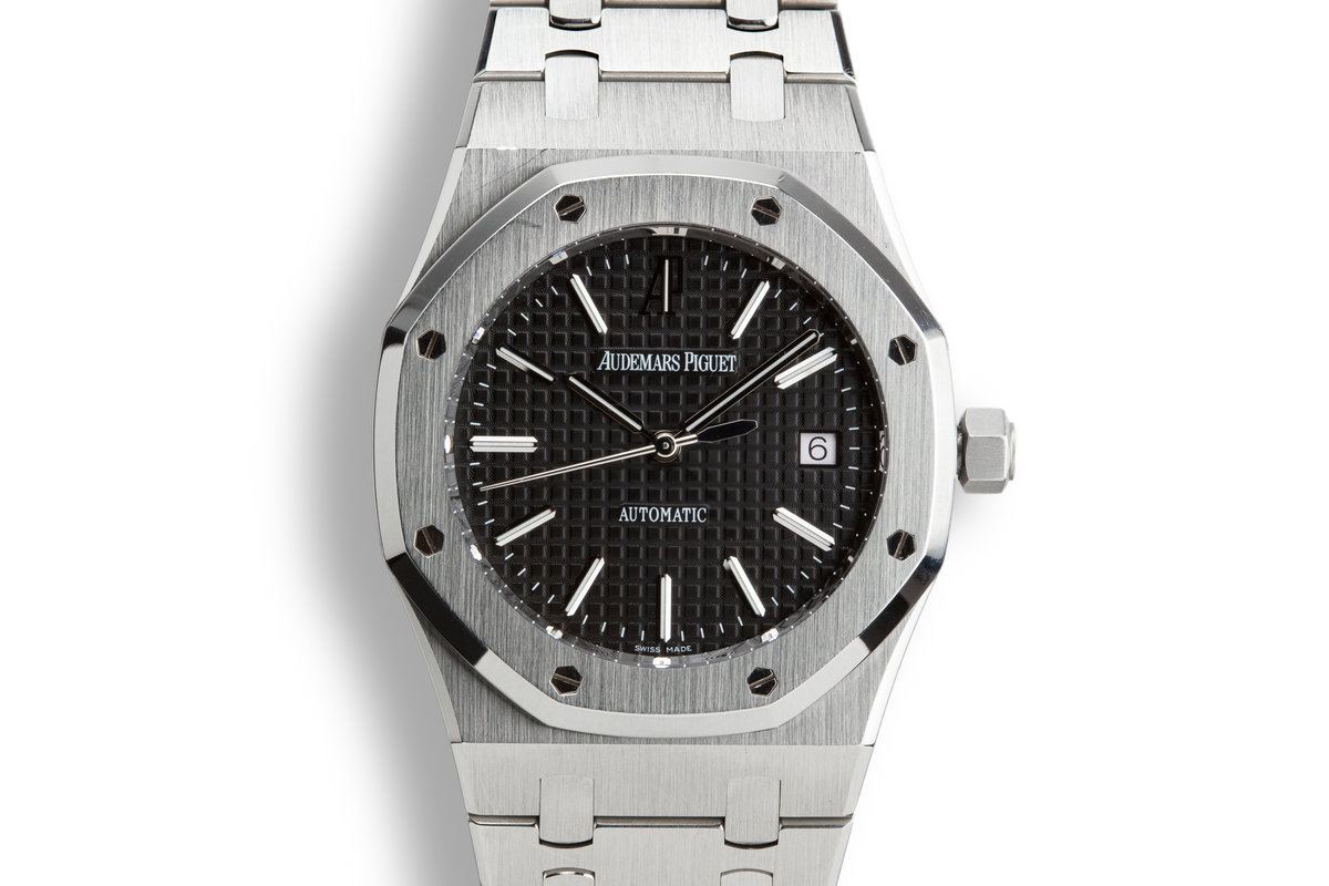 2013 Audemars Piguet Royal Oak 15300ST.00.1220ST.03 Black Dial with Box and Papers photo, #0