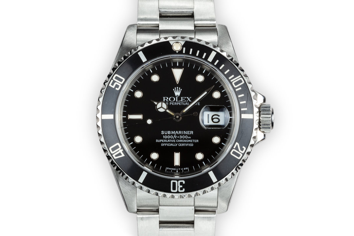 1991 Rolex Submariner 16610 with Box and Papers photo, #0