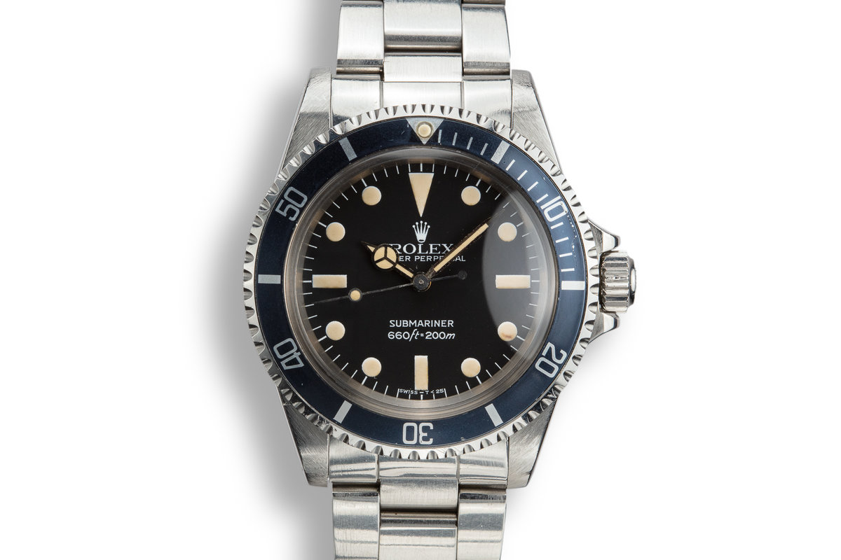 1982 Rolex Submariner 5513 MK IV Maxi Dial with Box and Papers photo, #0