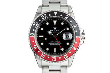 1999 Rolex GMT-Master II 16710 SWISS Only Dial with Service Papers photo
