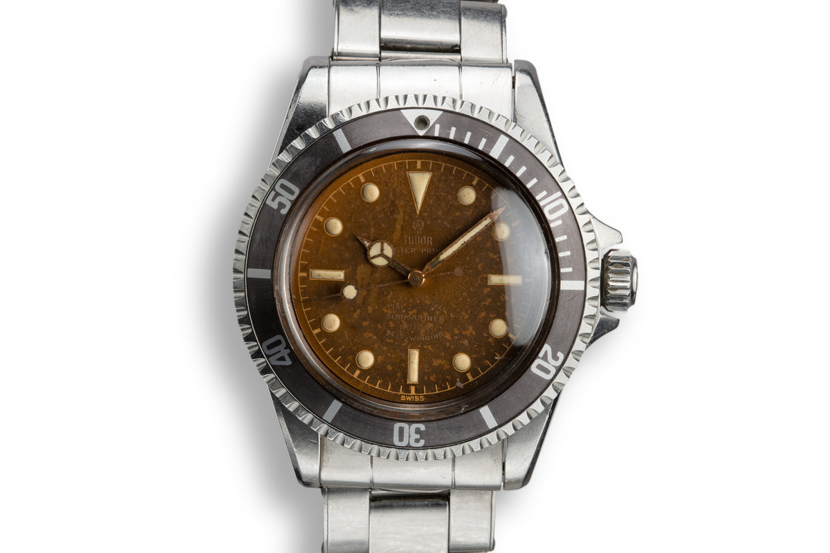 1960 Tudor Submariner 7928 Pointed Crown Guard Case with Tropical Gilt Dial photo, #0
