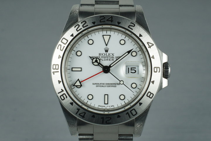 1995 Rolex Explorer II 16570 White Dial with Box and Papers photo
