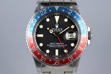 1982 Rolex GMT 16750 Matte Dial photo