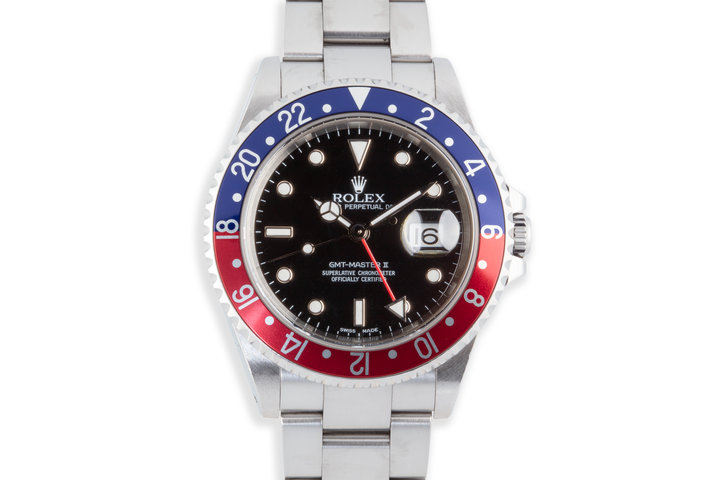 "2002 Rolex GMT-Master II 16710 ""Pepsi"" Bezel photo"
