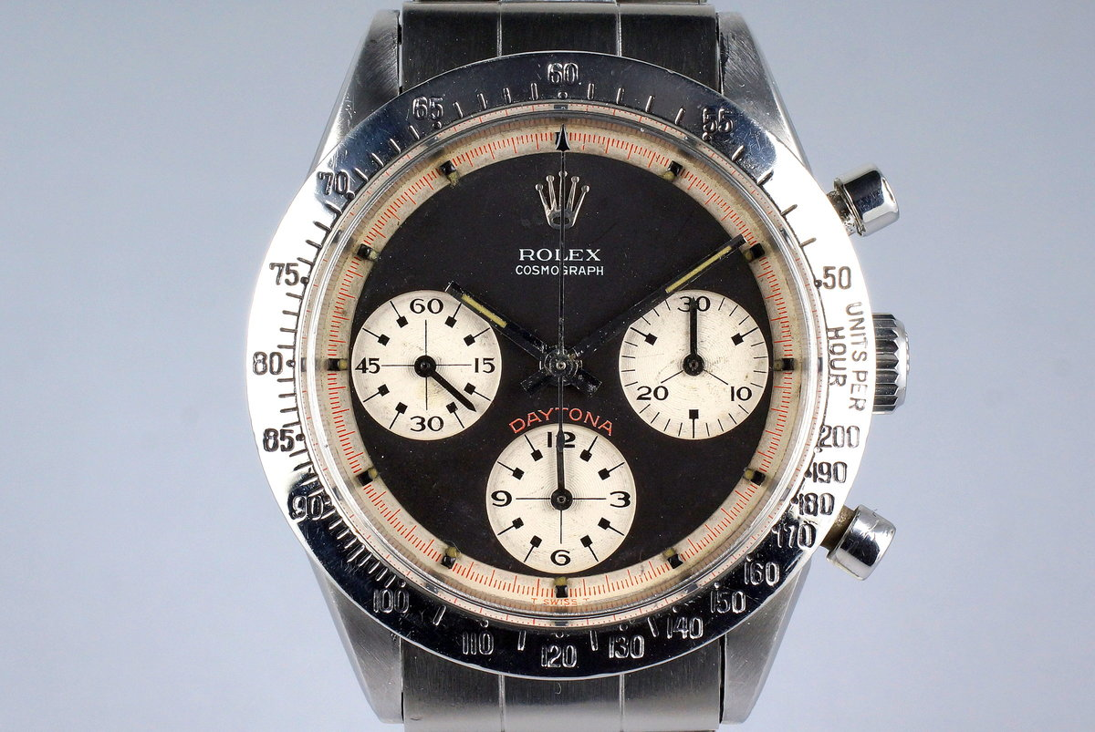 6d760c84e67 HQ Milton - 1969 Vintage Rolex Daytona 6239 with Black 3 Color Paul ...