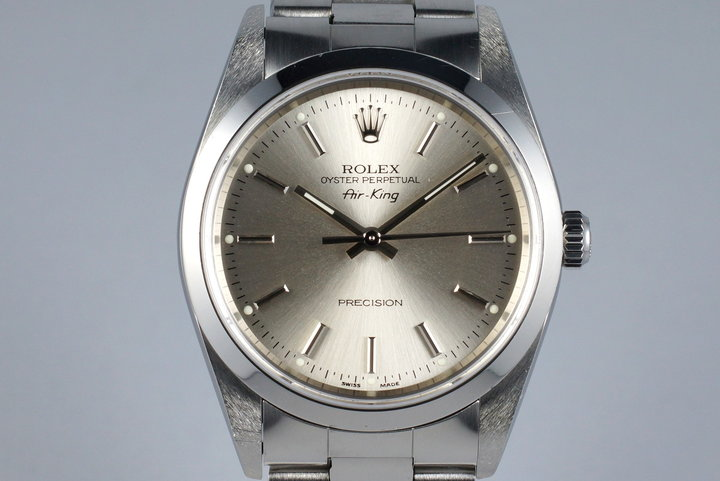 2005 Rolex Air-King 14000M Silver Dial with Papers photo