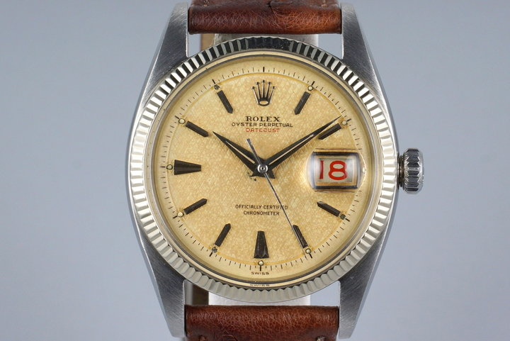 1955 Rolex DateJust 6305 1 with Red DateJust Waffle Dial photo