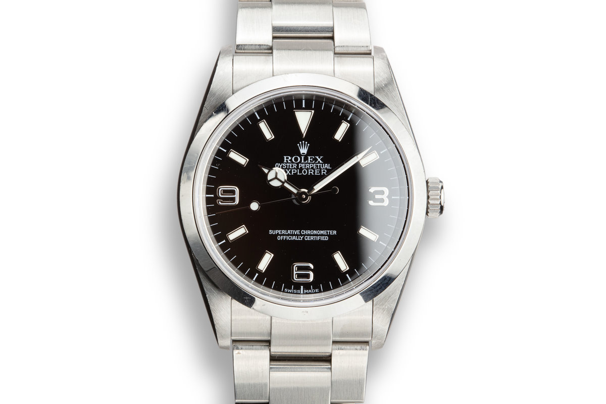 2003 Rolex Explorer 114270 with Box and Papers photo, #0