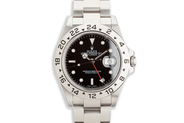 2006 Rolex Explorer II 16570 Black Dial with Box and Papers photo