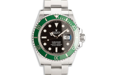 "2021 Rolex Green 41mm Submariner 126610LV ""Kermit"" with Box & Card photo"