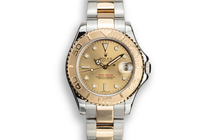2000 Rolex Two-Tone Mid Sized Yacht Master 168623 photo