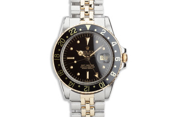 1978 Vintage Rolex Two-Tone GMT-Master 1675 with Black Nipple Dial with Service Papers photo