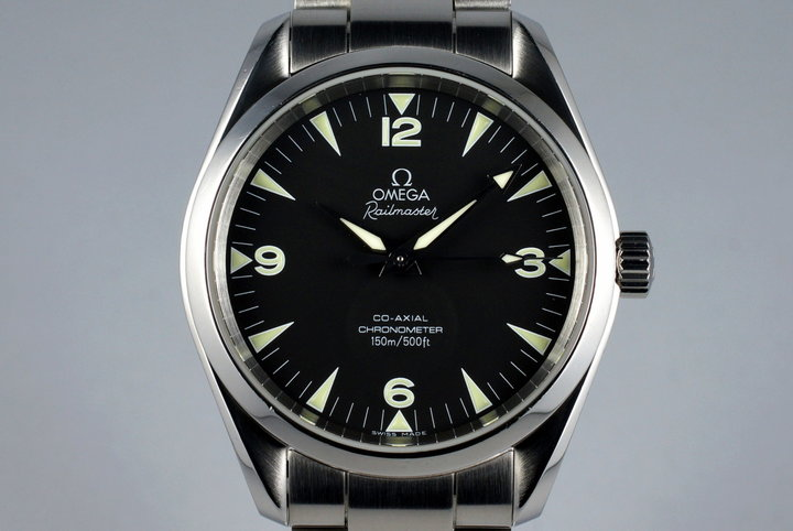 2005 Omega Co-Axial Railmaster 2503.52 with Box and Papers photo
