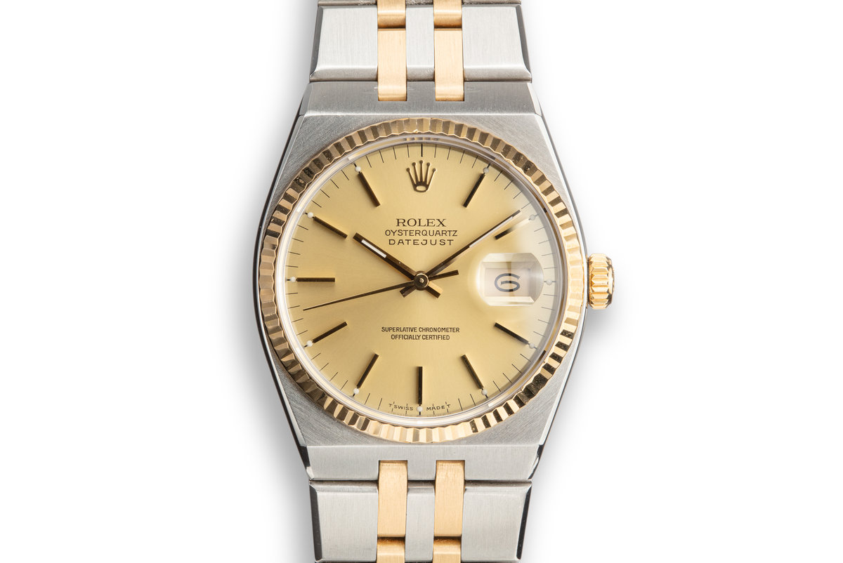 1987 Rolex Two-Tone OysterQuartz 17013B Champagne Dial photo, #0