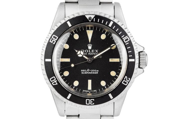 1968 Rolex Submariner 5513 Serif Dial photo
