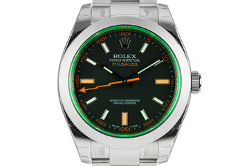 2008 MINT Rolex Milgauss 116400V with Box and Papers photo