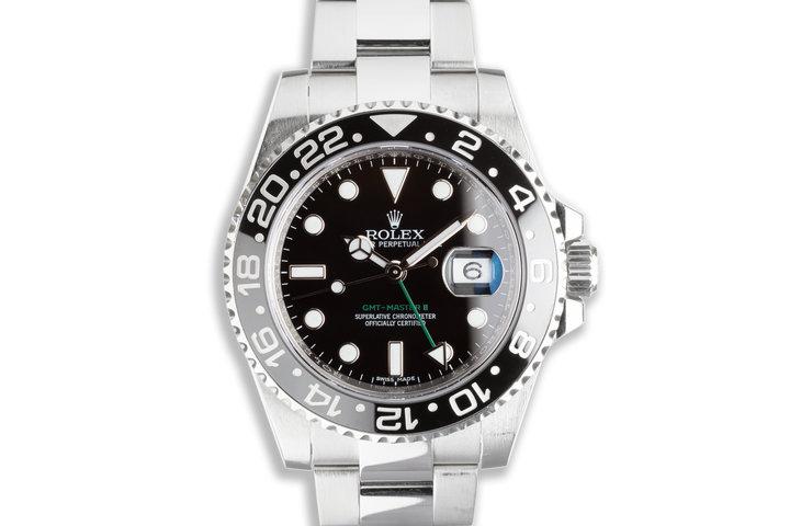2016 Rolex GMT-Master II 116710LN Black Bezel with Box & Card photo