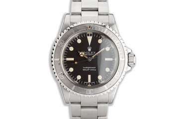 "1979 Vintage Rolex Submariner 5513 MK III Maxi ""Lollipop Dial"" with Box & Service Papers photo"