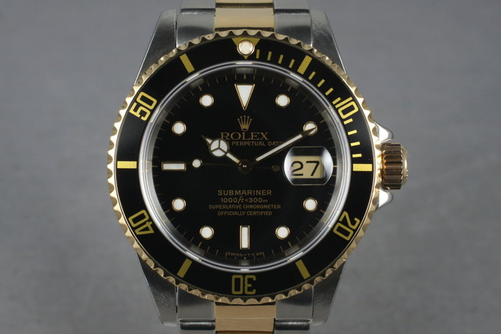 1991 Rolex 18K/SS Submariner 16613 photo