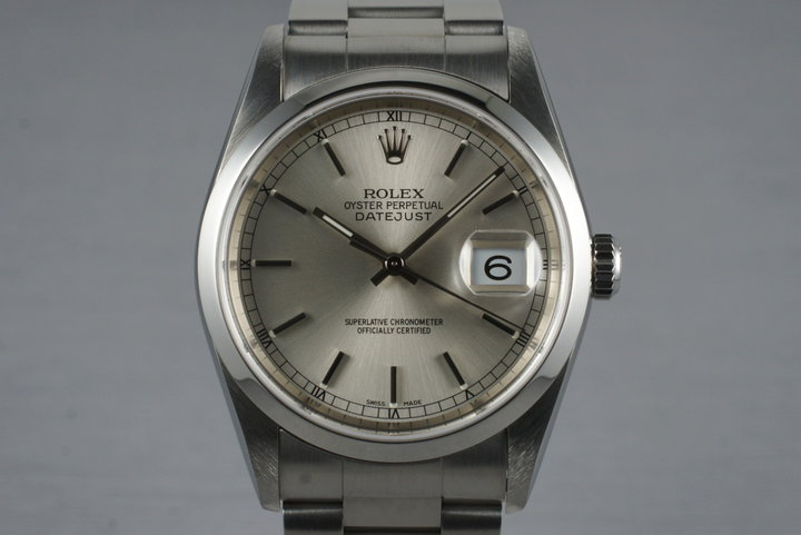 2005 Rolex DateJust 16200 with Box and Papers photo