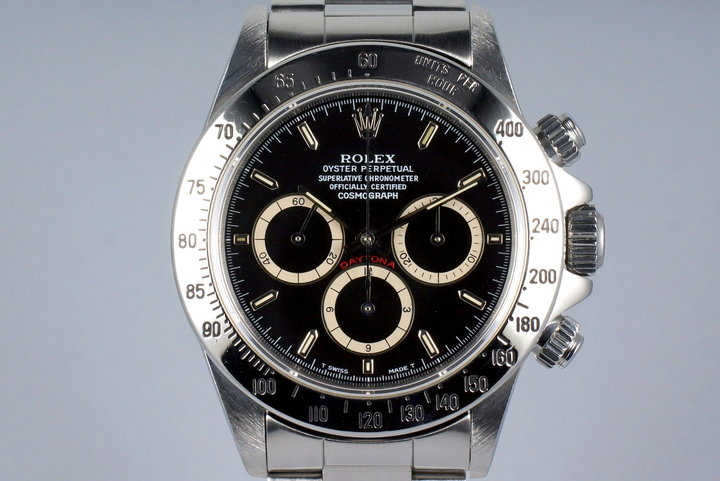 1990 Rolex Zenith Daytona 16520 Black 'Inverted 6' Dial photo