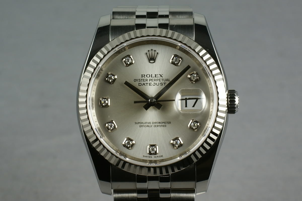 Rolex Modern Datejust Ref: 116234 Diamond Dial photo, #0