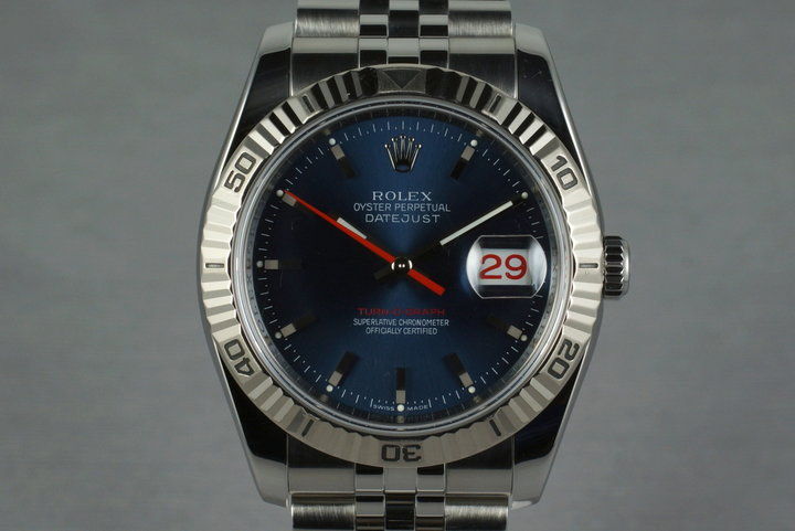 2005 Rolex DateJust 116264 Turn-O-Graph with Navy Dial photo