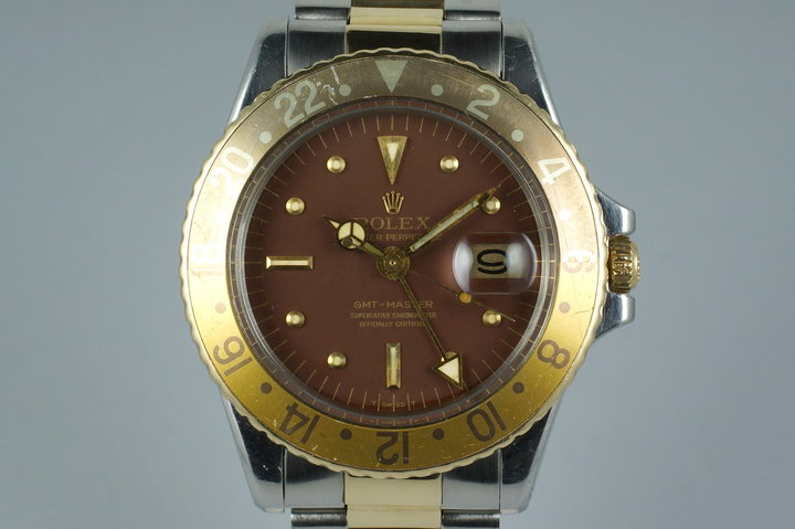 1972 Rolex Two Tone GMT 1675 Root Beer Dial photo