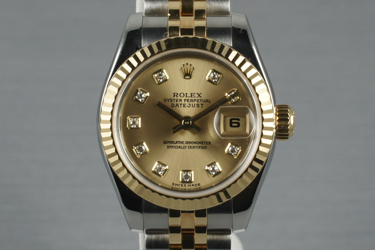 2003 Rolex Ladies Two Tone Datejust 179173 with Diamond Dial photo, #0
